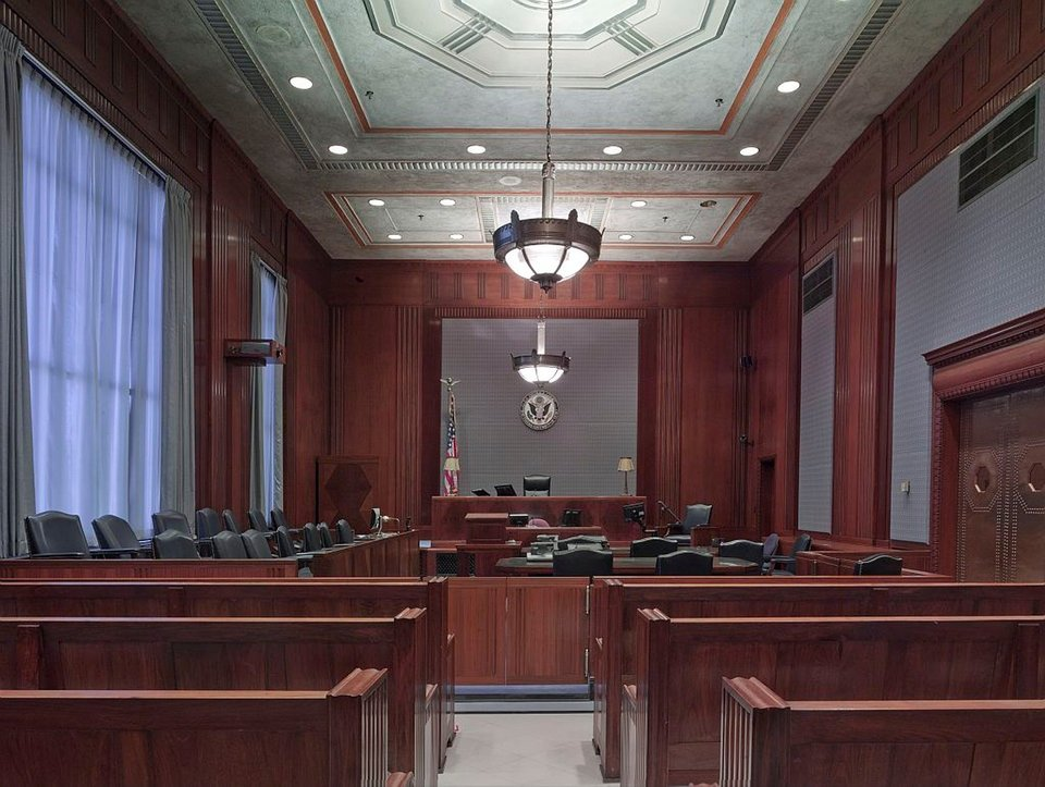 Empty courtrooms have been the norm during the coronavirus crisis. The legal system continues to press on with the help of modern tech and more.